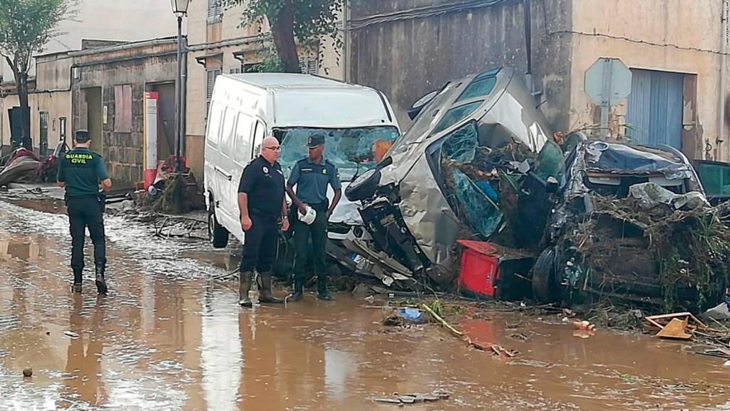 Inundaciones dejan destrucción en Mallorca, España