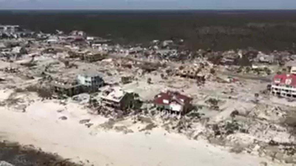 Así se ve desde el aire la destrucción en Mexico Beach, Florida