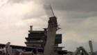 Centro comercial en construcción se derrumba en Monterrey