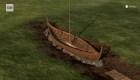 Encuentran un barco vikingo bajo tierra en Noruega