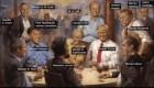 Trump enseña su pintura más republicana