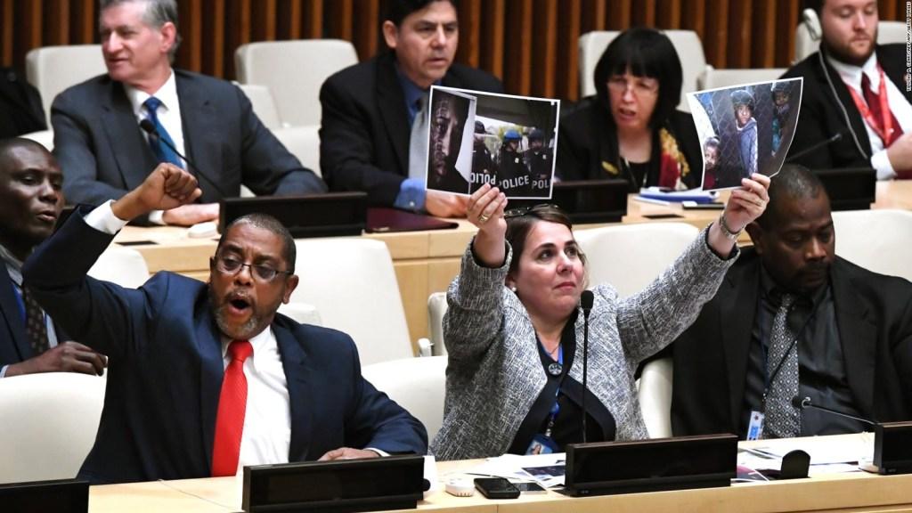 Así fue la protesta de los diplomáticos cubanos en la ONU