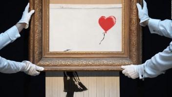 """""""En los ensayos funcionó"""": Banksy insinúa que su truco salió mal"""