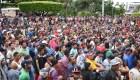 Caravana de migrantes hondureños intentará pasar a México