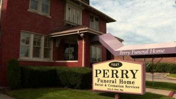 Funeraria Perry, donde encontraron restos de decenas de fetos.
