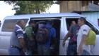 Los migrantes que abandonaron la caravana hacia EE.UU.