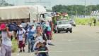 Caravana reanuda su paso hacia la frontera de EE.UU.