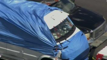 Esta es la camioneta del sospechoso detenido por los paquetes bombas