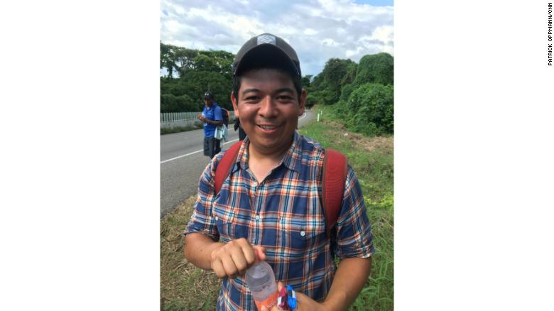 Bryan Colindres was born in Honduras but spent most of his life in the United States. After an immigration raid in October he was deported to Honduras, a country he says he hardly knows. He joined the migrant caravan to reunite with the wife and daughter he left behind in America.
