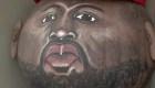El famoso rostro de Kanye West en una calabaza