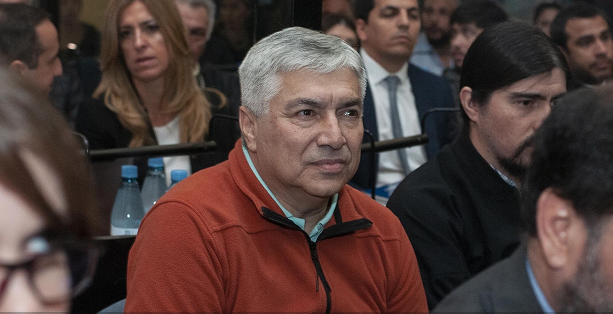 Lázaro Báez durante el juicio oral este martes. (Crédito: Centro de Información Judicial de Argentina).