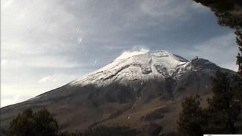 Imagen del volcán Popocatépetl en octubre de 2018. (Crédito: Cenapred)