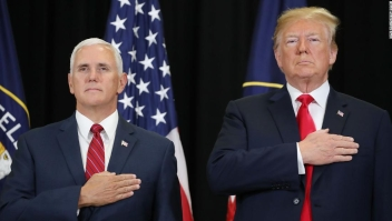 Mike Pence junto a Donald Trump en una imagen de archivo.