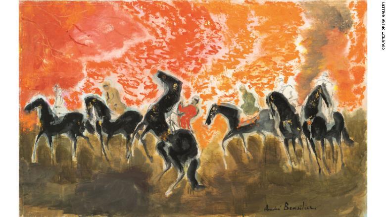 Brasilier pinta caballos en varios escenarios.
