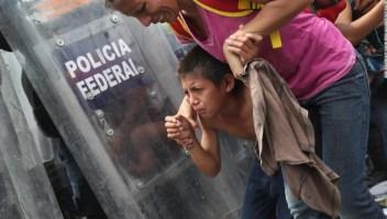 Caravana de inmigrantes en Guatemala.