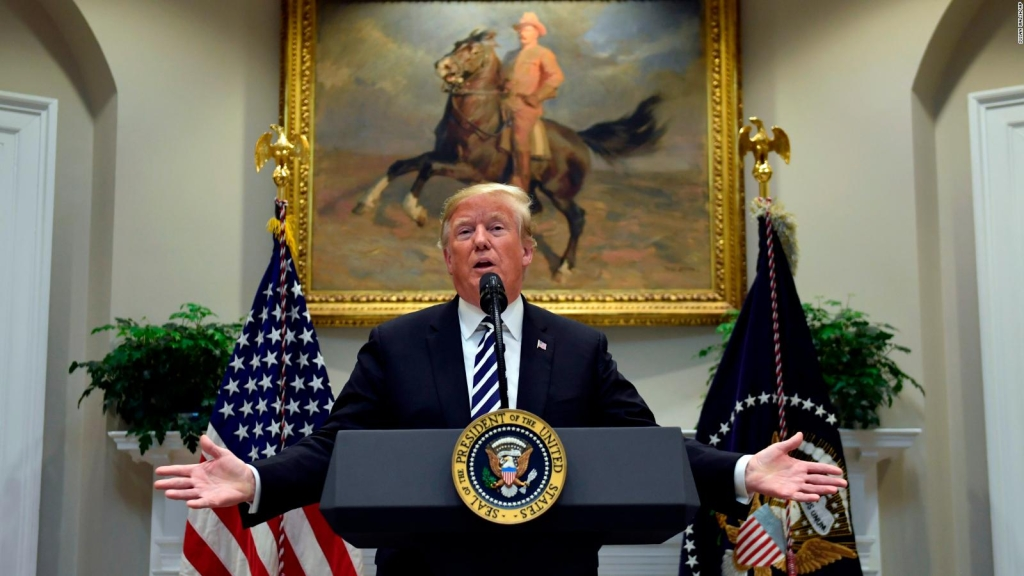 Trump, a todo pulmón contra la caravana