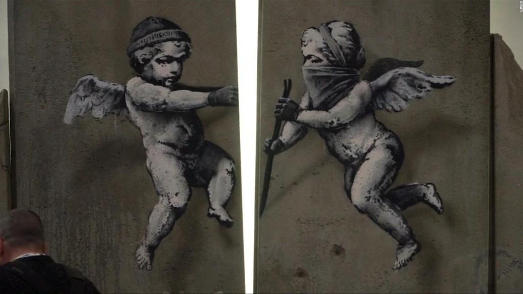 #LaImagenDelDía: el famoso artista Banksy se inspira en Palestina