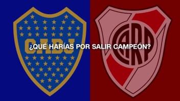 Hinchas de Boca y River: ¿qué harían por ver campeón a su equipo?