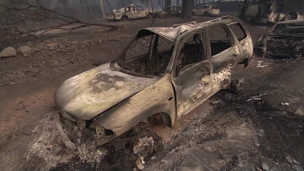 """Evacuada por incendios en California: """"Solo me vine con el pijama"""""""