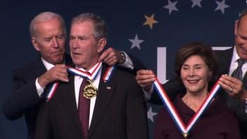 Los Bush reciben Medalla de la Libertad