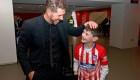 Manu, el niño que conmovió al Atlético Madrid