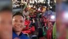 Reconocidos corredores de autos se disfrazan para competir en karting