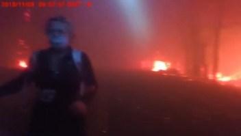 Video registra increíble rescate en el incendio Camp de California
