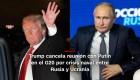 #MinutoCNN: Trump cancela reunión con Putin en el G20