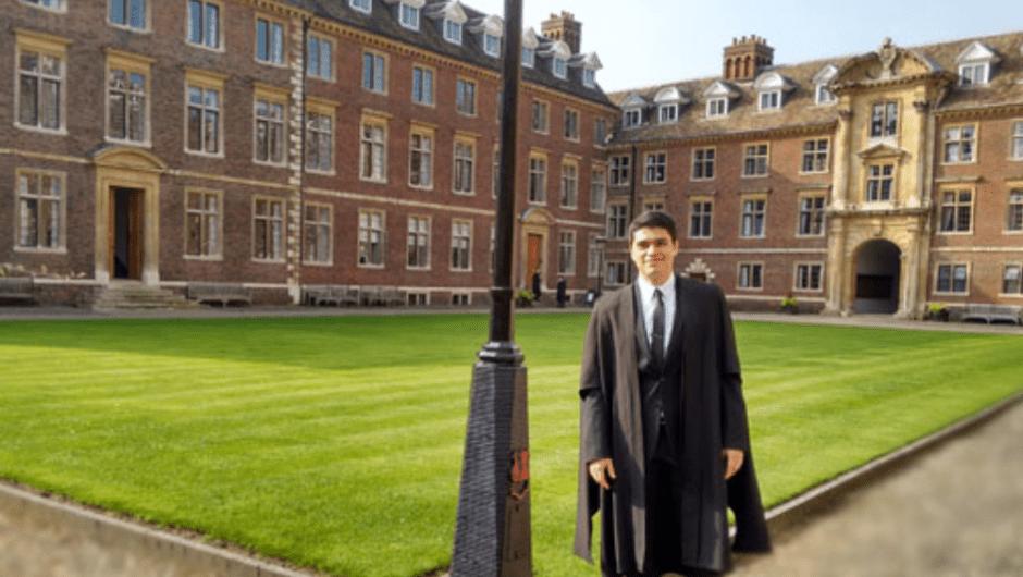 Alejandro Jiménez en el St Catherine's College. (Crédito: Conacyt)