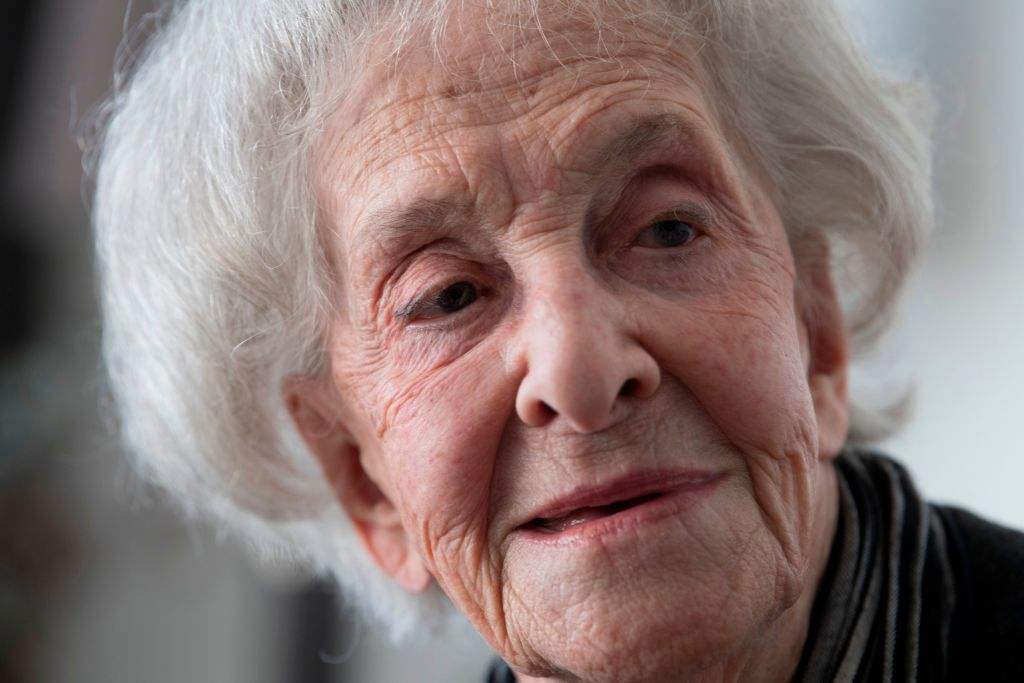 Uruguayan poet Ida Vitale is pictured during an interview with AFP at her home in Montevideo on September 10, 2018. - 94-year-old Vitale who has explored poetry, literary criticism, journalism and translation, will receive on November 24 the Literature FIL prize in Romance Languages 2018 in Guadalajara, Mexico. (Photo by Pablo PORCIUNCULA BRUNE / AFP) (Photo credit should read PABLO PORCIUNCULA BRUNE/AFP/Getty Images)