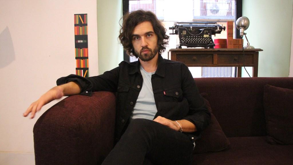 Guille Galvá, integrante de la banda Vetusta Morla, durante la entrevista en Madrid.