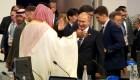 Putín saludó efusivamente al príncipe heredero saudí Mohamed bin Salman en el G20