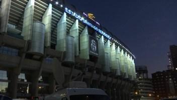 Los hinchas en Madrid esperan la final de la Copa Libertadores