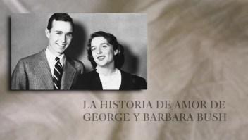 Esta es la historia de amor de George y Bárbara Bush