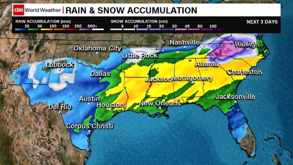 Una gran tormenta invernal amenaza con nieve, hielo e inundaciones a gran parte de Estados Unidos durante los próximos días.