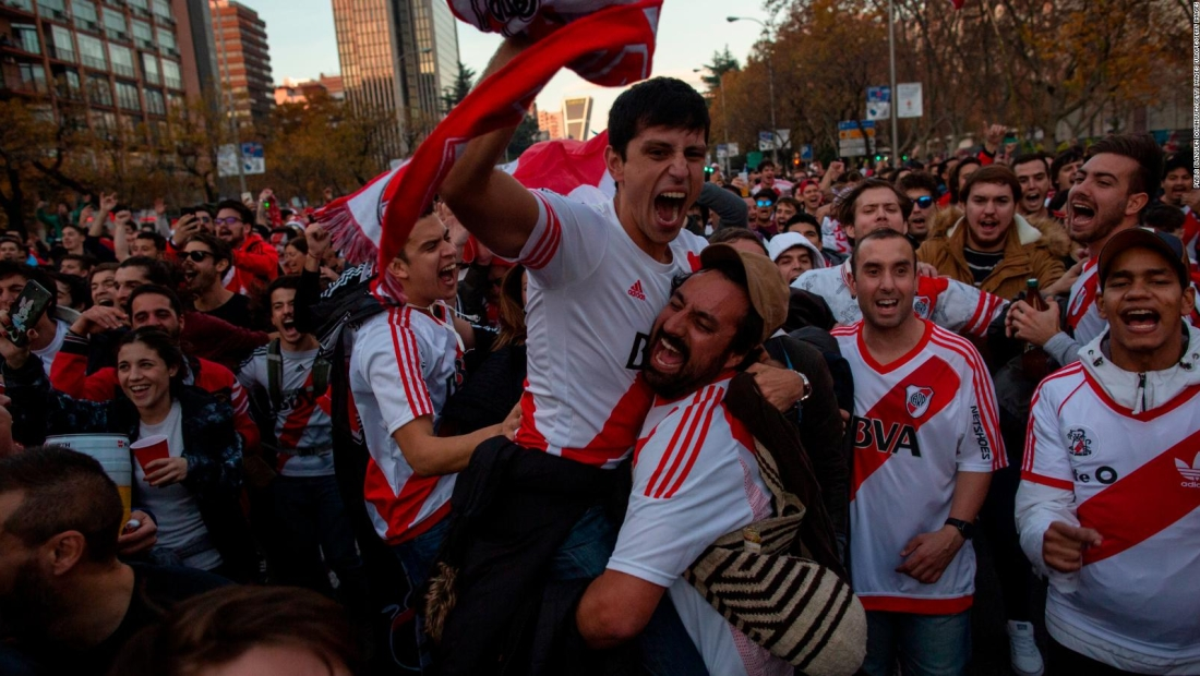 Copa Libertadores: celebraciones argentinas en Madrid