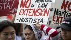Filipinas: Miles protestan contra extensión de Ley Marcial
