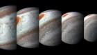 NASA revela gigantescas tormentas polares de Júpiter