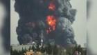 Enorme columna de humo por incendio en Toluca, México