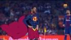"""""""SuperMessi"""" ganó su quinta Bota de Oro y el Barcelona le hizo un gran homenaje"""