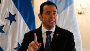 Jimmy Morales asegura hacer cumplir la ley en Guatemala