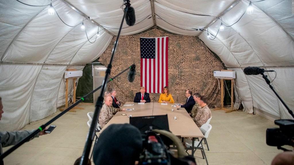 Trump y Melania visitan Iraq