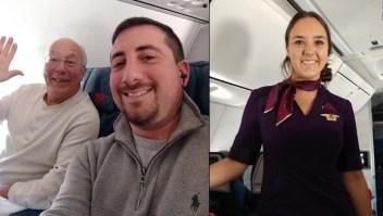 Tomó seis vuelos para pasar Navidad con su hija aeromoza