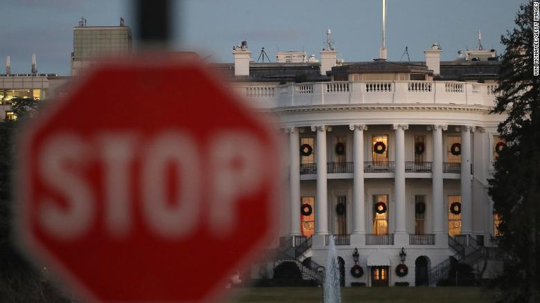 WASHINGTON, DC - DECEMBER 22: The White House is shown during a partial shutdown of the federal government on December 24, 2018 in Washington, DC. The partial shutdown will continue for at least a few more days as lawmakers head home for the holidays as Democrats and the Trump administration cannot agree on an amount of funding for border security. (Photo by Win McNamee/Photo by Win McNamee/Getty Images)