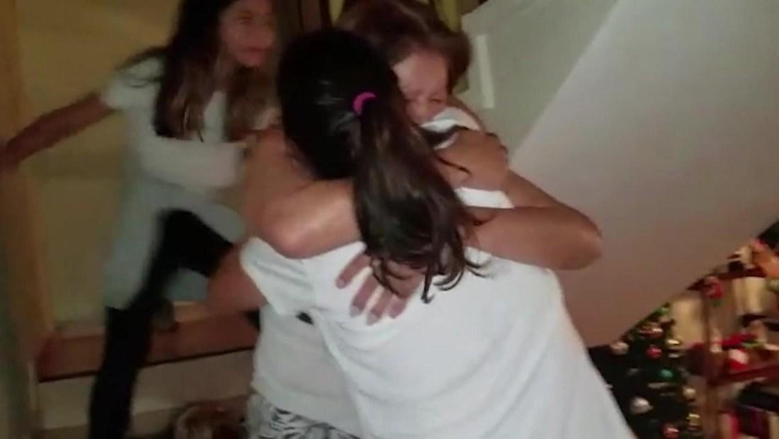 Así fue el reencuentro de migrantes venezolanos con sus familias