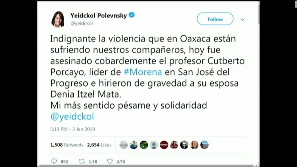 Asesinan a otro dirigente de Morena, en México
