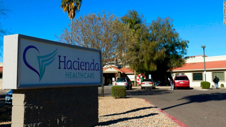 Bill Timmons, the CEO of private health care facility Hacienda Healthcare, has resigned after reports that a female patient gave birth despite being in a vegetative state for more than a decade, as the patient living at the facility reportedly gave birth Dec. 29 although the staff was unaware the woman was pregnant, the facility shown here Friday, Jan. 4, 2019, in Phoenix. (AP Photo/Ross D. Franklin)