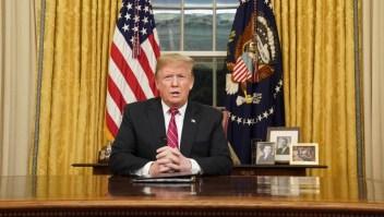 Donald Trump pone presión a los demócratas para construir el muro.