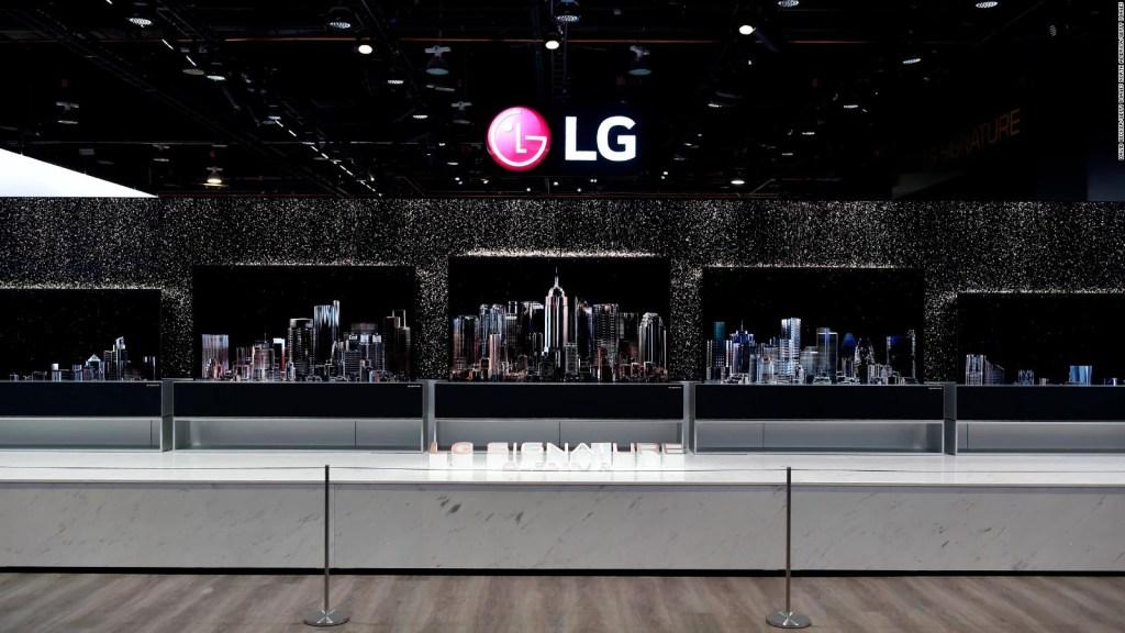 El secreto para que el televisor de LG se enrolle
