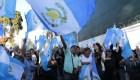 La crisis institucional de Guatemala se ve en las calles